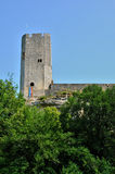 France, picturesque castle of Gavaudun in Lot et Garonne Royalty Free Stock Photo