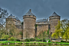 France, picturesque castle of Lassay les Chateaux Royalty Free Stock Image