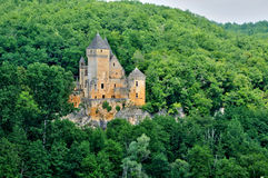 France, picturesque castle of Laussel in Dordogne royalty free stock image