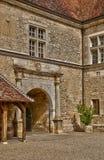 France,picturesque castle of Le Clos de Vougeot in Bourgogn Royalty Free Stock Photos