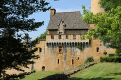 France, picturesque castle of Puymartin in Dordogne royalty free stock photo
