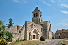 France, picturesque church of Montchauvet Stock Image