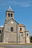France, picturesque church of Montchauvet Stock Photo