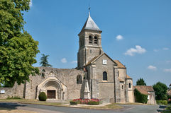 France, picturesque church of Montchauvet Stock Photos