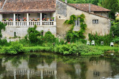 France, picturesque city of Brantome Stock Image