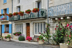 France, picturesque city of Brantome Stock Photography
