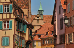 France, picturesque city of Colmar in Haut Rhin Royalty Free Stock Photos