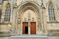 France, picturesque city of Dives sur Mer. France, the picturesque church of Dives sur Mer Royalty Free Stock Photos
