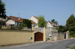France, picturesque city of Jouy le Moutier in Ile de France Royalty Free Stock Image