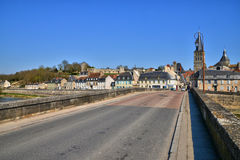 France,picturesque city of La Charite sur Loire in Bourgogne Stock Image