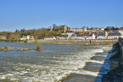 France,picturesque city of La Charite sur Loire in Bourgogne Royalty Free Stock Images