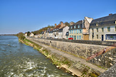 France,picturesque city of La Charite sur Loire in Bourgogne Royalty Free Stock Image