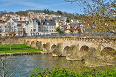 France, the picturesque city of Meulan Stock Photography