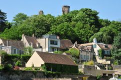 France, the picturesque city of Monfort l Amaury Royalty Free Stock Image