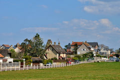 France, picturesque city of Saint  aubin sur mer  in Normandie Royalty Free Stock Photo