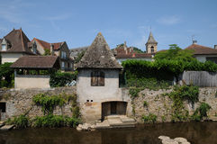 France, picturesque city of Saint Cere in Lot Royalty Free Stock Photos