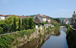 France, picturesque city of Saint Cere in Lot Royalty Free Stock Image