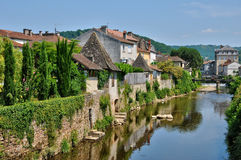 France, picturesque city of Saint Cere in Lot Stock Photos