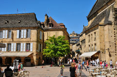 France, picturesque city of Sarlat la Caneda in Dordogne Royalty Free Stock Image