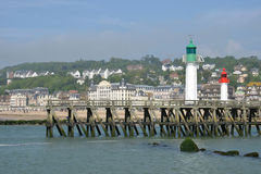 France, the picturesque city of Trouville Stock Photography