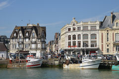 France, the picturesque city of Trouville Stock Image