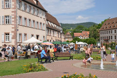 France, the picturesque city of Wissembourg in Bas Rhin Stock Images