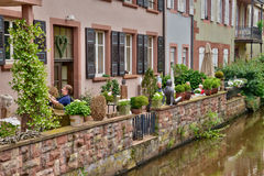 France, the picturesque city of Wissembourg in Bas Rhin Stock Photography