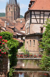 France, the picturesque city of Wissembourg in Bas Rhin Royalty Free Stock Photography