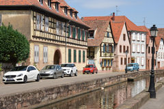 France, the picturesque city of Wissembourg in Bas Rhin Royalty Free Stock Photos