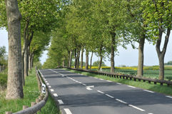 France, a picturesque country road in Arthies Stock Photo