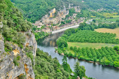 France, picturesque Dordogne valley in Perigord Royalty Free Stock Image