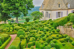 France, picturesque garden of Marqueyssac  in Dordogne Royalty Free Stock Photography