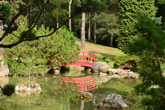 France, the picturesque japanese garden of  Aincourt Stock Photos
