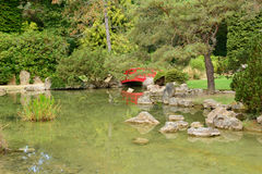 France, the picturesque japanese garden of  Aincourt Royalty Free Stock Photography