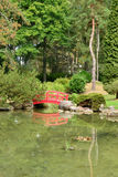 France, the picturesque japanese garden of  Aincourt Royalty Free Stock Photo