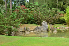 France, the picturesque japanese garden of  Aincourt Stock Photo