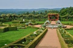 France, Picturesque Jardins Du Manoir D Eyrignac In Dordogne Royalty Free Stock Image
