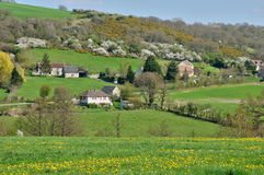 France, picturesque landscape near Thury Harcourt in Normandie Stock Photo