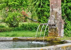 France,  picturesque old fountain in Hunawihr Royalty Free Stock Photography
