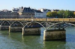 France, picturesque Pont des Arts in Paris Royalty Free Stock Photos