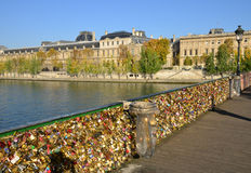 France, picturesque Pont des Arts in Paris Stock Photography