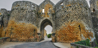 France, picturesque Porte des Tours in Domme Royalty Free Stock Image