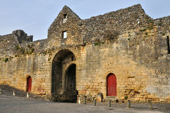 France, picturesque Porte des Tours in Domme Royalty Free Stock Photography