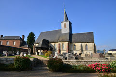 France, picturesque village of Bosc Bordel in Normandie Stock Photos