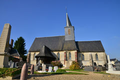 France, picturesque village of Bosc Bordel in Normandie Royalty Free Stock Photography
