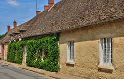 France, the picturesque village of  Boury en Vexin Royalty Free Stock Photo