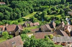 France, picturesque village of Castelnaud la Chapelle Royalty Free Stock Image