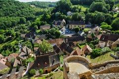 France, picturesque village of Castelnaud la Chapelle Royalty Free Stock Photo