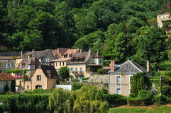 France, picturesque village of Castelnaud la Chapelle Royalty Free Stock Image