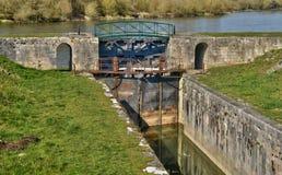 France,  picturesque village of  Chatillon sur Loire Royalty Free Stock Photos
